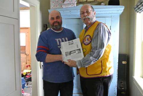 "Dan Yetman - Winner of Arnprior Lions Club Entertainment Draw for ""CARE Coach"""